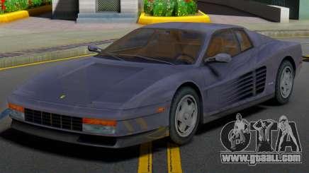 Ferrari Testarossa 1986 (IVF) for GTA San Andreas