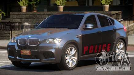 BMW X6M GL Police for GTA 4