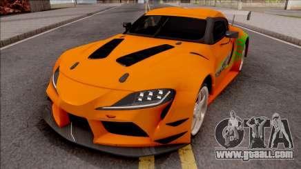 Toyota Supra A90 Fast & Furious for GTA San Andreas