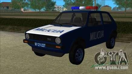 VW Golf Mk1 Yugoslav Yugoslav Milicija (police) for GTA Vice City