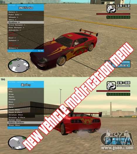 RZL-Trainer v3.1.2 - cheat menu like GTA 5 for GTA San Andreas