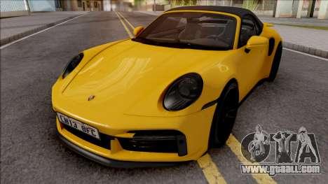 Porsche 911 Turbo S Cabrio (992) for GTA San Andreas