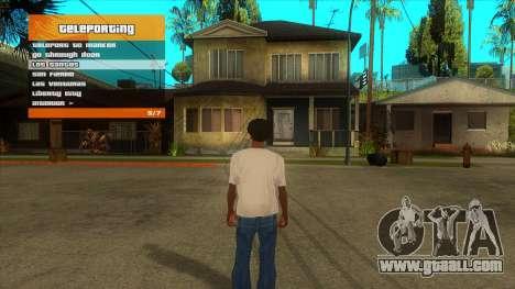 R'-TRAINER V2.0.1 - menu cheat for GTA San Andreas