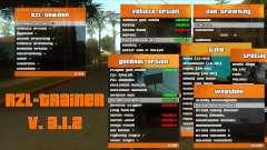 RZL-Trainer v3.1.2 - new cheat menu like GTA 5 for GTA San Andreas
