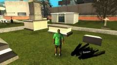 Correction of graves at the cemetery in Los Santos for GTA San Andreas