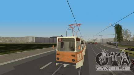 Tram KTM-5M3 from the game City Car Driving for GTA San Andreas
