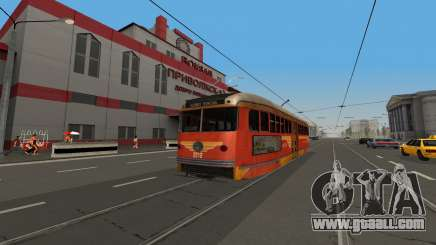 A PCC tram from the game LA Noire for GTA San Andreas