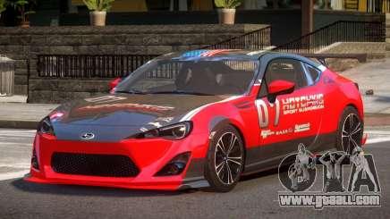 Subaru BRZ GT Sport PJ1 for GTA 4