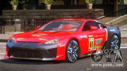 Lexus LFA Nurburgring Edition PJ6 for GTA 4