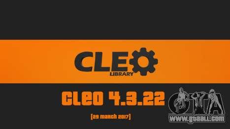 CLEO 4.3.22 for GTA San Andreas