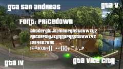 Pricedown - GTA logo font for GTA San Andreas