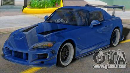 HONDA S2000 Blue with Spoiler for GTA San Andreas