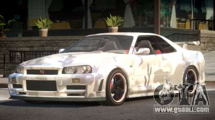 Nissan Skyline R34 GS PJ2 for GTA 4