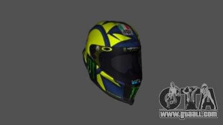 AGV PISTA GP-R Helmet Valentino Rossi 2019 for GTA San Andreas