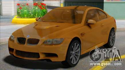 BMW M3 E92 Yellow Coupe for GTA San Andreas