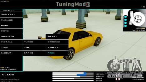 Tuning Mod v3.0.1 for GTA San Andreas