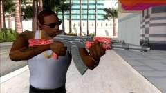 CSGO AK-47 Red Laminate V2 for GTA San Andreas