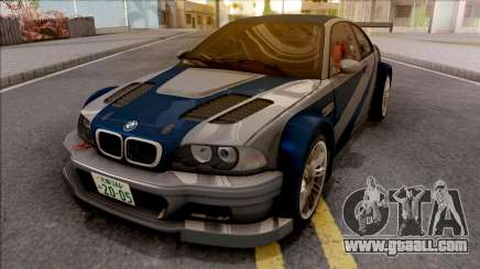 Razor BMW M3 GTR for GTA San Andreas