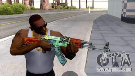 CSGO AK-47 Fire Serpent for GTA San Andreas