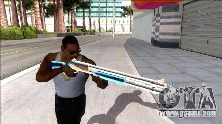 Weapons Pack Blue Evolution (chromegun) for GTA San Andreas
