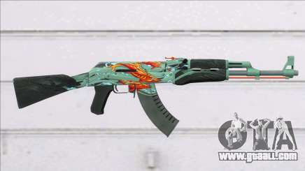 CSGO AK-47 Aquamarine Revenge for GTA San Andreas