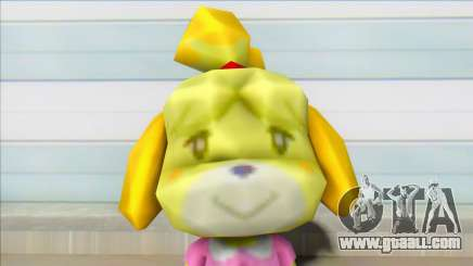 Animal Crossing Isabelle Informal Clothes Skin for GTA San Andreas