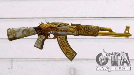 AK47 GOLD DRAGON for GTA San Andreas