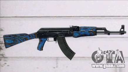 CSGO AK-47 Blue Laminate for GTA San Andreas
