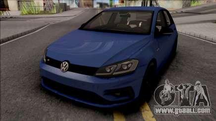 Volkswagen Golf 7 Blue for GTA San Andreas