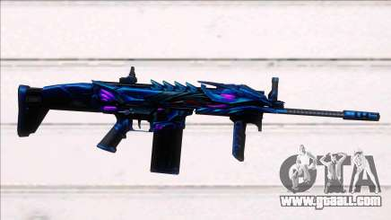 Scar-H Purple Dragon for GTA San Andreas