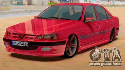 Peugeot Pars Sport Iran Plates for GTA San Andreas