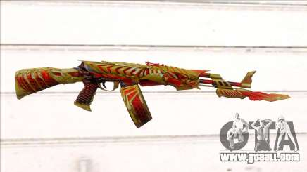 CFMs AK47 HeiWuShi Gold for GTA San Andreas