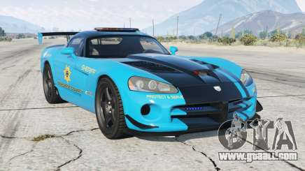 Dodge Viper SRT-10 ACR Hot Pursuit Policᶒ for GTA 5