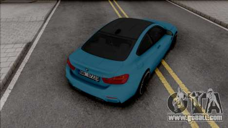 BMW M4 F82 2018 Blue for GTA San Andreas