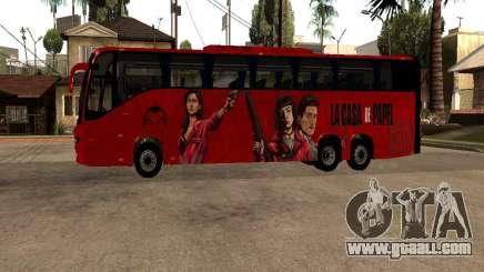 La Casa De Papel bus mod for GTA San Andreas