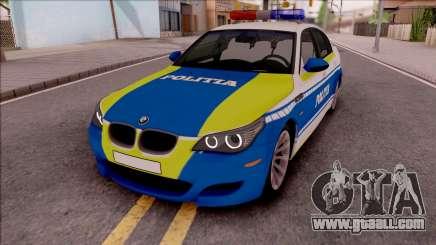 BMW M5 E60 Politia Romana Design 2020 for GTA San Andreas