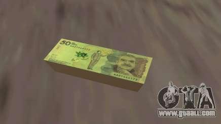 50k Colombian Pesos banknote for GTA San Andreas