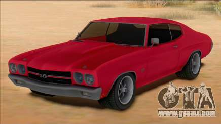 Chevrolet Chevelle SS Red for GTA San Andreas