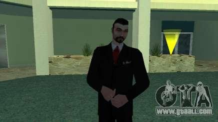 Black Suit Mafboss for GTA San Andreas