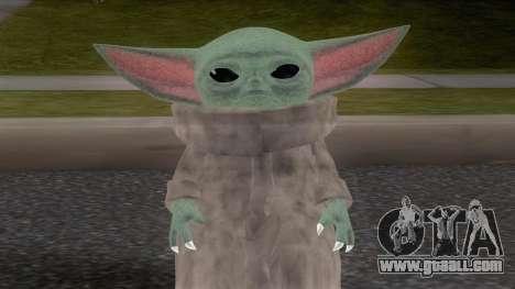 Baby YodaGrogu from The Mandalorian for GTA San Andreas