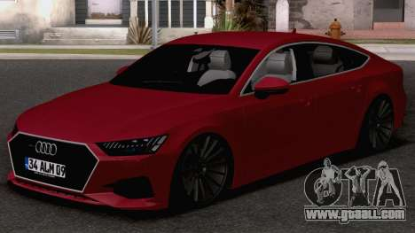 Audi A7 2020 TR Plates for GTA San Andreas