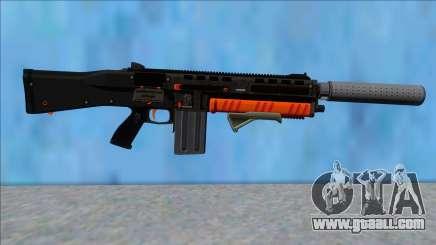 GTA V Vom Feuer Assault Shotgun Orange V4 for GTA San Andreas