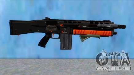 GTA V Vom Feuer Assault Shotgun Orange V6 for GTA San Andreas