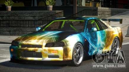 Nissan Skyline R34 GST-R PJ7 for GTA 4