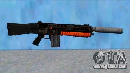 GTA V Vom Feuer Assault Shotgun Orange V8 for GTA San Andreas