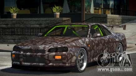 Nissan Skyline R34 GST-R PJ4 for GTA 4