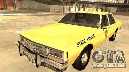Chevrolet Impala 1985 Mariland State Police for GTA San Andreas