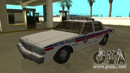 Chevrolet Caprice 1987 Toronto Metro Police for GTA San Andreas