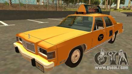 Mercury Grand Marquis 1986 Taxi for GTA San Andreas