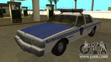 Chevrolet Caprice 1987 NYPD Transit Police for GTA San Andreas